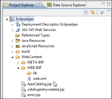Creating a web application for AJAX - Java EE Development with Eclipse