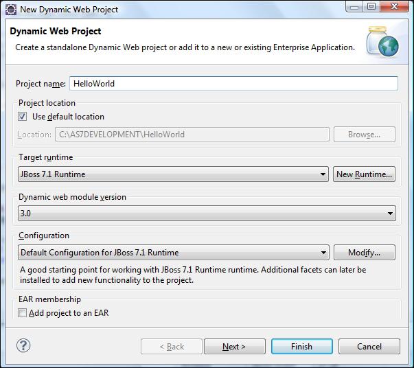 Deploying your first application to JBoss AS 7 - JBoss AS 7 Development