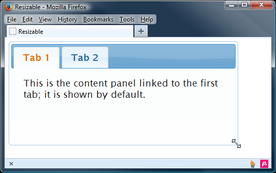 Creating resizable tabs - jQuery UI 1 10: The User Interface