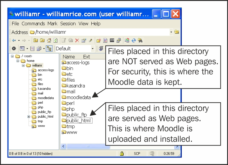 Installation step 4 – the Moodle data directory - Moodle E