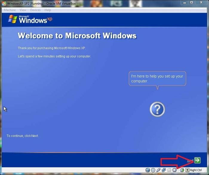 Installing WindowsXP on Oracle VM VirtualBox - Learning Metasploit
