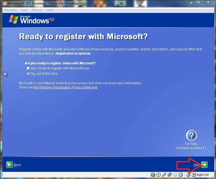 Installing WindowsXP on Oracle VM VirtualBox - Learning Metasploit