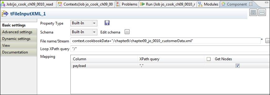 Using tXMLMap to read XML - Talend Open Studio Cookbook