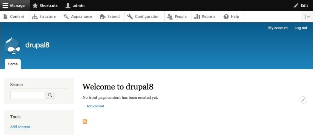 Reviewing the new admin interface - Drupal 8 Theming with Twig