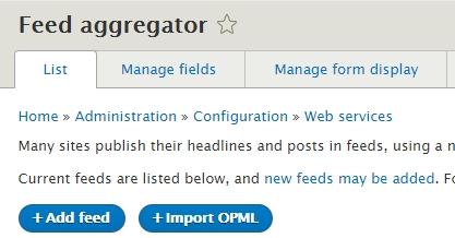 Aggregator - Learning Drupal 8