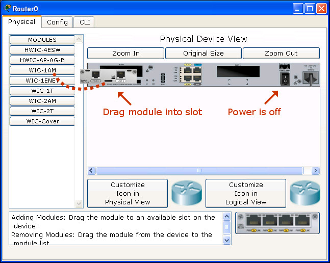Customizing devices with modules - Packet Tracer Network Simulator