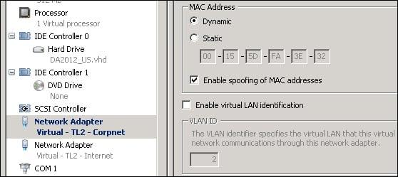 MAC address spoofing for virtual machines - Microsoft