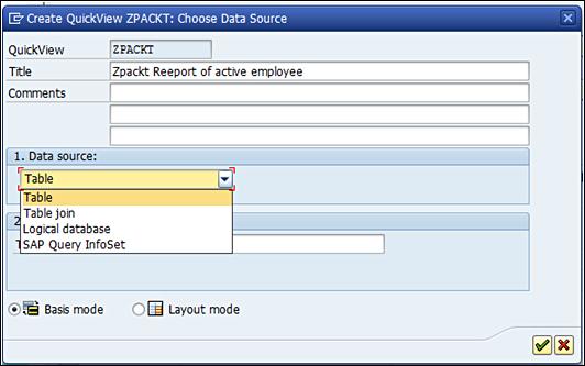 Develop a report using SAP Query Viewer (SQVI) - SAP HCM - A