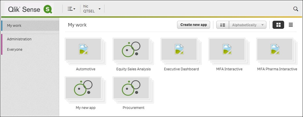 Getting started with the app creation - Learning Qlik Sense: The