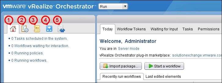 Navigating through vRealize Orchestrator Client - Mastering
