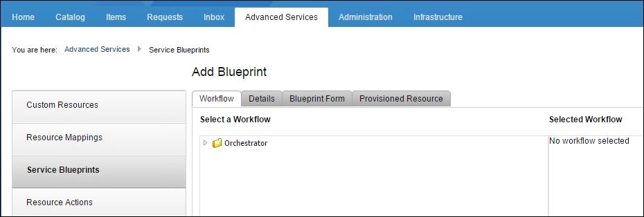 Adding the workflows to vRA web portal - Mastering vRealize