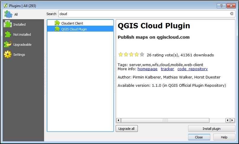 The QGIS Cloud plugin - QGIS By Example