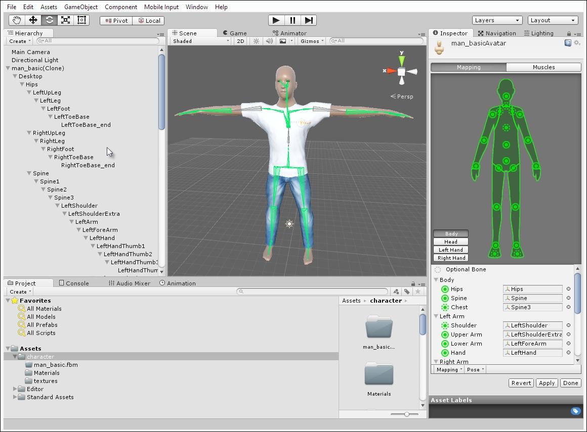 Animation Retargeting avatars and retargeting - unity animation essentials