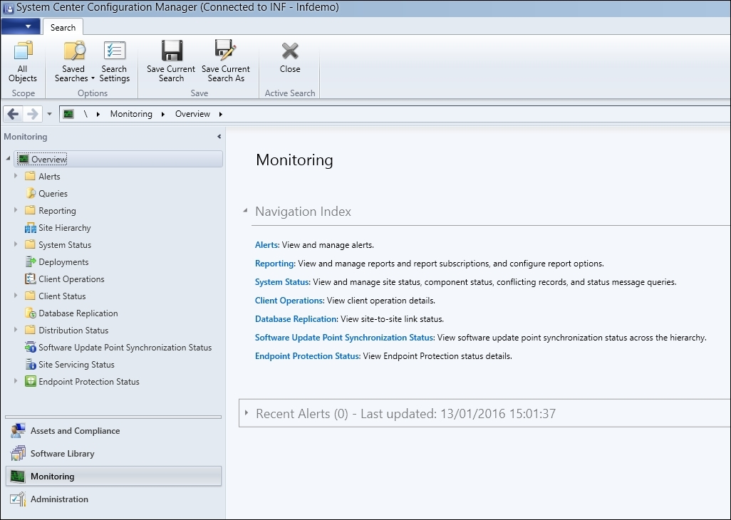 The Monitoring workspace - Troubleshooting System Center