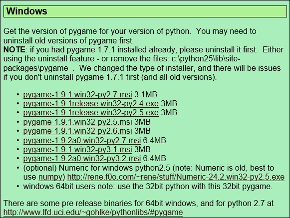 Installing pygame - Python Projects for Kids