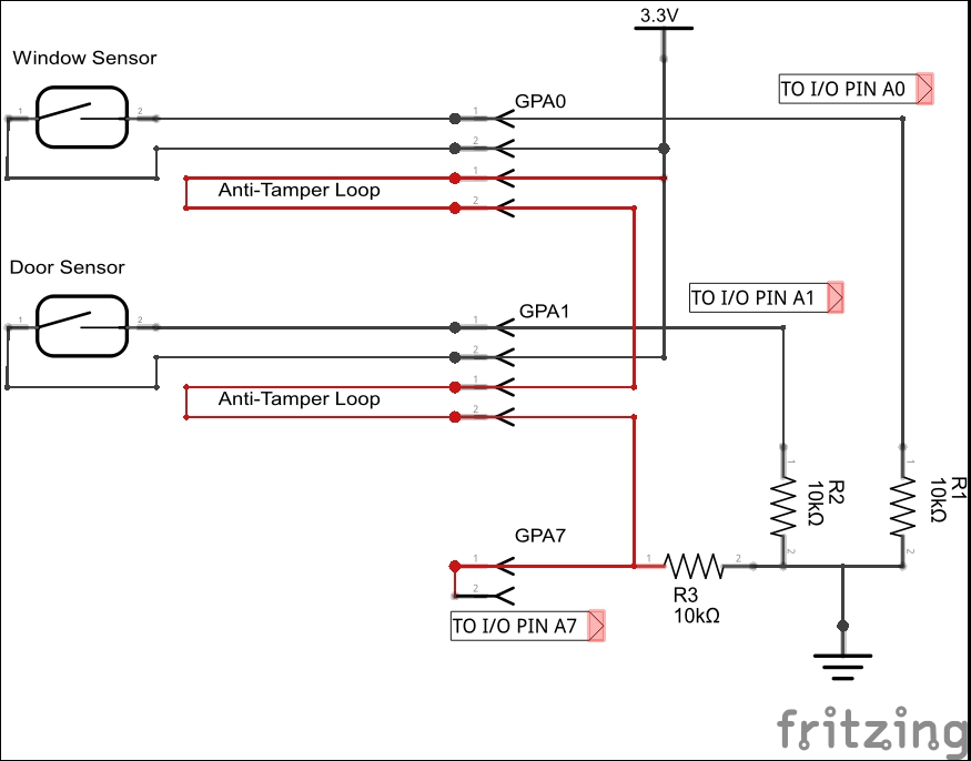 Anti-tamper circuits - Building a Home Security System with