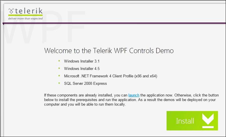 Telerik demo project - Telerik WPF Controls Tutorial