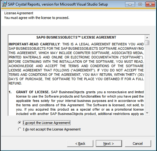 Installing Crystal Reports for Visual Studio 2012 - Reporting with