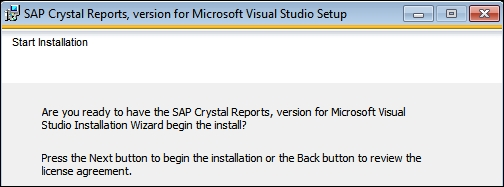 Installing Crystal Reports for Visual Studio 2012