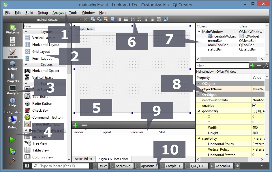 Use style sheets with Qt Designer - Qt5 C++ GUI Programming