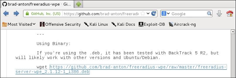 Setting up FreeRADIUS-WPE - Kali Linux Wireless Penetration Testing