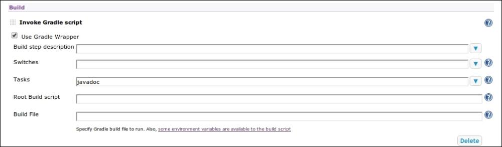 Generating and publishing Javadoc - Hudson 3 Essentials