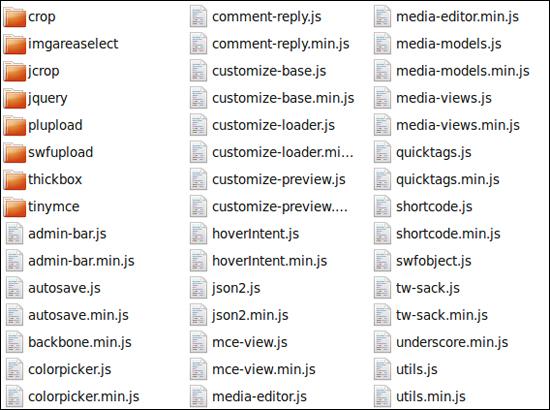 Open source JavaScript libraries in the WordPress core
