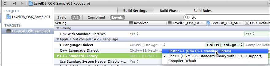 Moving to Xcode - Getting Started with LevelDB