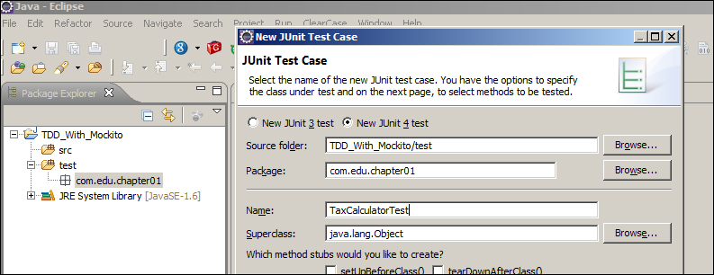 Definition of test - Test-Driven Development with Mockito