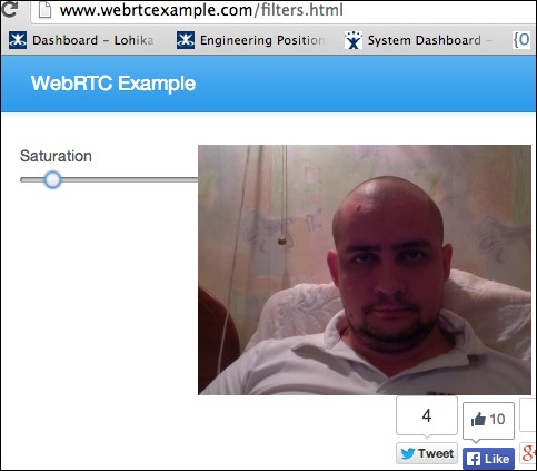 Working with saturation - WebRTC Cookbook