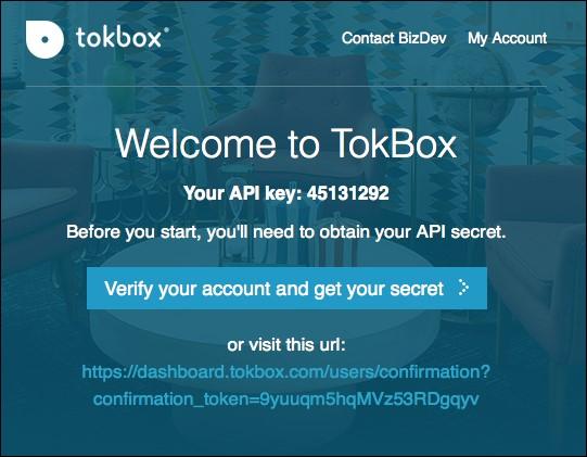 Using OpenTok to create a WebRTC application - WebRTC Cookbook