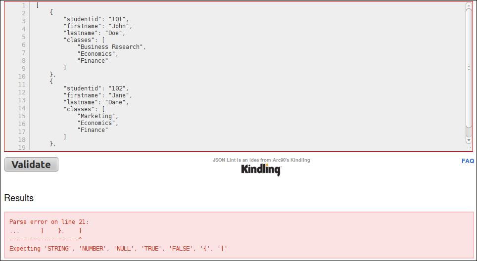 Validating JSON - JavaScript and JSON Essentials