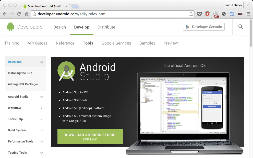 Using Android Studio to develop Android Cordova applications