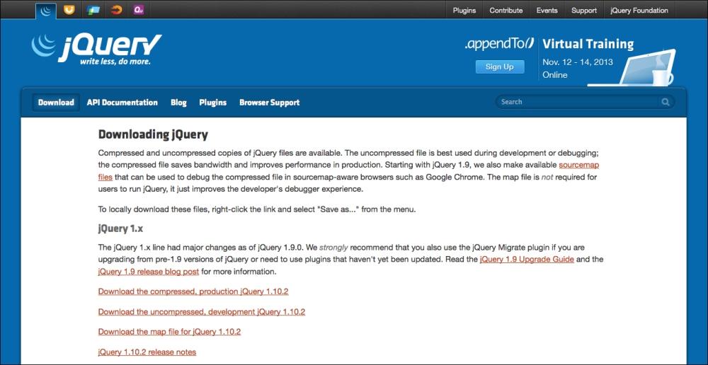 TÉLÉCHARGER JQUERY 3.1.1