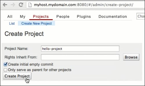 Create and clone your first project - Learning Gerrit Code