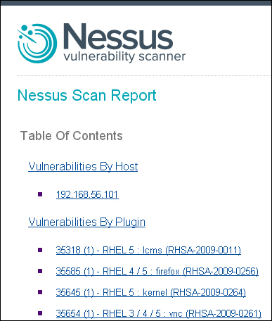 Result analysis - Learning Nessus for Penetration Testing