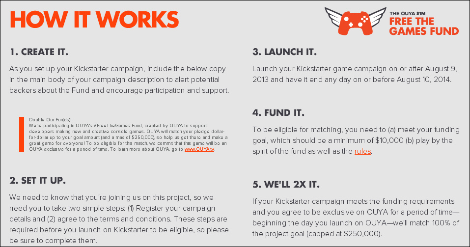 OUYA – the Free the Games Fund campaign - Getting Started