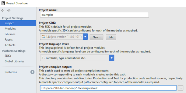 Configuring IntelliJ to work with Spark and run Spark ML sample