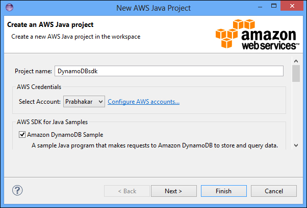 Creating your first SDK project - DynamoDB Applied Design
