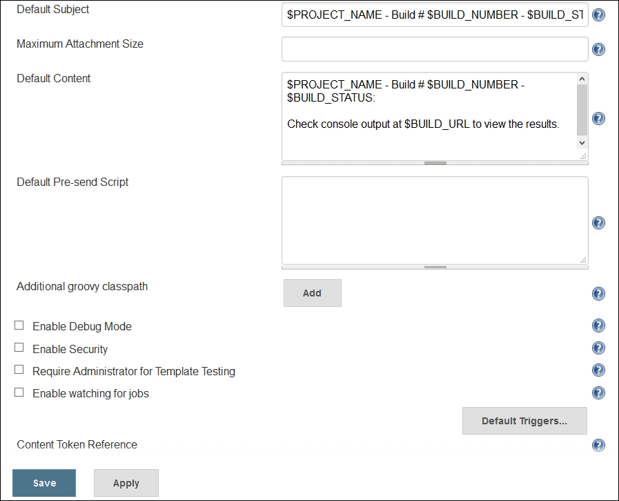 Extended Email Plugin - Jenkins Essentials