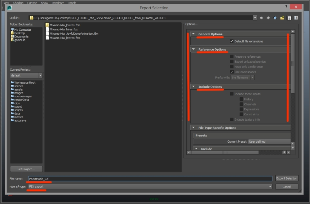 Exporting FBX files from Maya - Unity 2D Game Development
