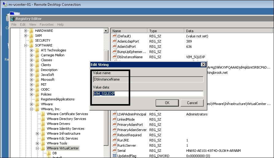 Migrating vCenter from SQL Express to SQL Server - vCenter
