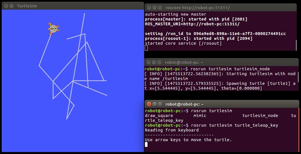 Teleoperating ROS Turtle using a keyboard - ROS Robotics Projects