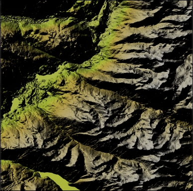 Merging rasters to generate a color relief map - Python