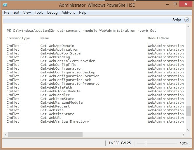 The WebAdministration module - Getting Started with PowerShell