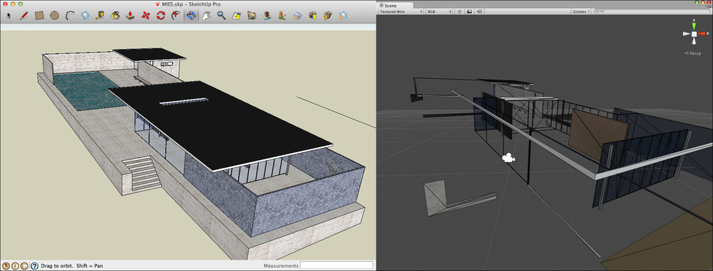 CAD or 3D modeling software - Unity for Architectural