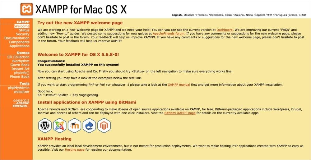 Installing XAMPP for Mac OS X - Mastering jQuery Mobile
