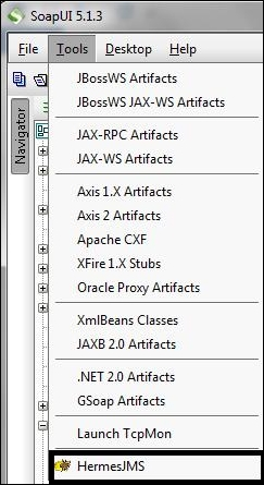 Configuring SoapUI for JMS services using Hermes JMS - Mastering SoapUI