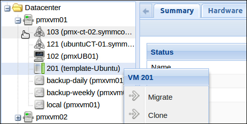 Creating a VM from a template - Mastering Proxmox