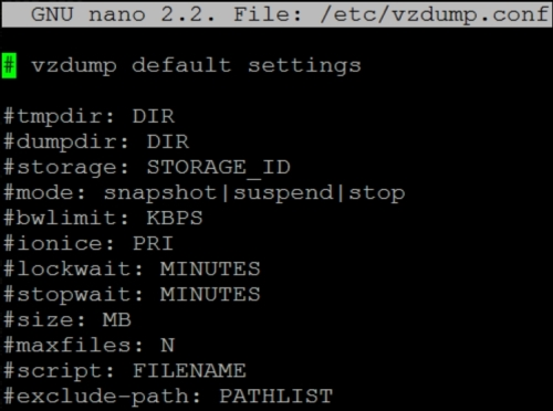 Configuring a backup with vzdump conf - Proxmox Cookbook
